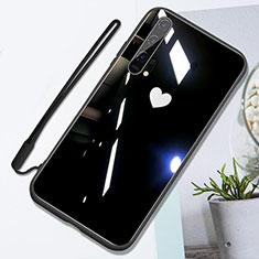 Custodia Silicone Specchio Laterale Cover T01 per Huawei Honor 20 Pro Nero