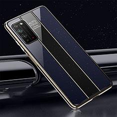 Custodia Silicone Specchio Laterale Cover T01 per Huawei Honor X10 5G Blu