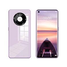 Custodia Silicone Specchio Laterale Cover T01 per Huawei Mate 40 Lavanda