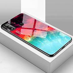 Custodia Silicone Specchio Laterale Cover T01 per Huawei P Smart (2020) Multicolore