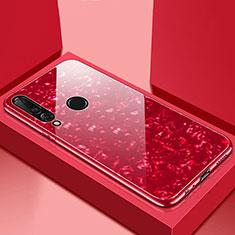 Custodia Silicone Specchio Laterale Cover T01 per Huawei P30 Lite New Edition Rosso