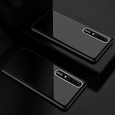 Custodia Silicone Specchio Laterale Cover T01 per Huawei P30 Nero