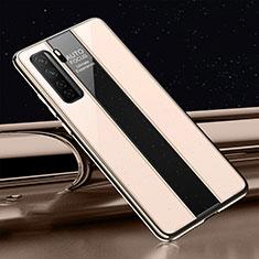 Custodia Silicone Specchio Laterale Cover T01 per Huawei P40 Lite 5G Oro