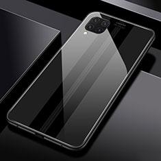 Custodia Silicone Specchio Laterale Cover T01 per Huawei P40 Lite Nero