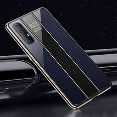 Custodia Silicone Specchio Laterale Cover T01 per Oppo Find X2 Neo Blu