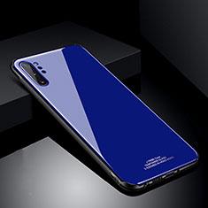Custodia Silicone Specchio Laterale Cover T01 per Samsung Galaxy Note 10 Plus 5G Blu