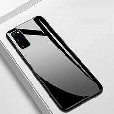 Custodia Silicone Specchio Laterale Cover T01 per Samsung Galaxy S20 5G Nero