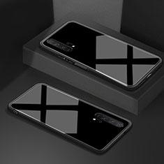 Custodia Silicone Specchio Laterale Cover T02 per Huawei Honor 20 Pro Nero