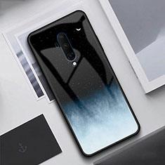 Custodia Silicone Specchio Laterale Cover T02 per OnePlus 7T Pro Nero