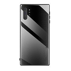 Custodia Silicone Specchio Laterale Cover T02 per Samsung Galaxy Note 10 Plus 5G Nero