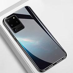 Custodia Silicone Specchio Laterale Cover T02 per Samsung Galaxy S20 Ultra Nero
