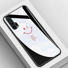 Custodia Silicone Specchio Laterale Cover T03 per Huawei Honor 20 Pro Nero