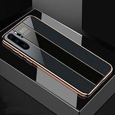Custodia Silicone Specchio Laterale Cover T03 per Huawei P30 Pro Nero