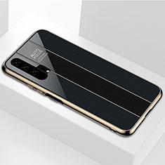 Custodia Silicone Specchio Laterale Cover T04 per Huawei Honor 20 Pro Nero