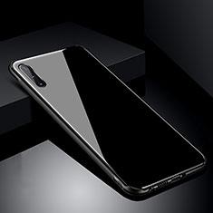 Custodia Silicone Specchio Laterale Cover T04 per Samsung Galaxy A70 Nero