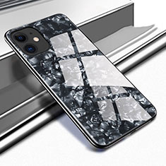 Custodia Silicone Specchio Laterale Cover T05 per Apple iPhone 11 Nero
