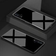 Custodia Silicone Specchio Laterale Cover T05 per Huawei Nova 5T Nero