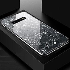 Custodia Silicone Specchio Laterale Cover U01 per Samsung Galaxy S10 Plus Nero