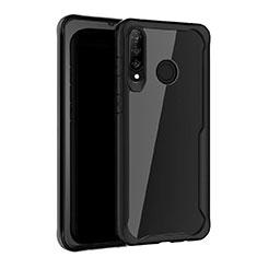 Custodia Silicone Specchio Laterale Cover Z01 per Huawei P30 Lite Nero