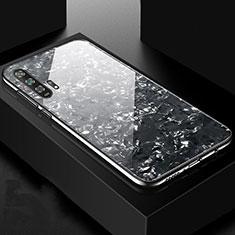 Custodia Silicone Specchio Laterale Cover Z04 per Huawei Honor 20 Pro Nero