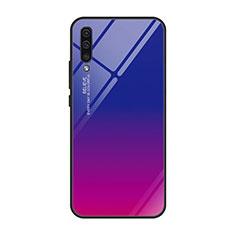 Custodia Silicone Specchio Laterale Sfumato Arcobaleno Cover H01 per Samsung Galaxy A70 Rosa Caldo
