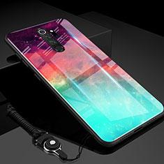 Custodia Silicone Specchio Laterale Sfumato Arcobaleno Cover H01 per Xiaomi Redmi Note 8 Pro Verde