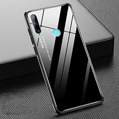 Custodia Silicone Specchio Laterale Sfumato Arcobaleno Cover H02 per Huawei Honor 20 Lite Nero