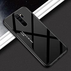 Custodia Silicone Specchio Laterale Sfumato Arcobaleno Cover H02 per Xiaomi Redmi Note 8 Pro Nero