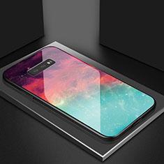 Custodia Silicone Specchio Laterale Sfumato Arcobaleno Cover H03 per Samsung Galaxy S10e Rosso