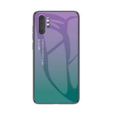 Custodia Silicone Specchio Laterale Sfumato Arcobaleno Cover M01 per Samsung Galaxy Note 10 Plus 5G Multicolore