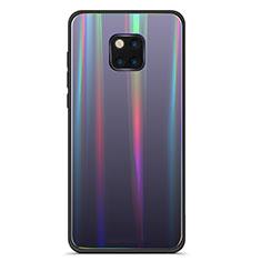 Custodia Silicone Specchio Laterale Sfumato Arcobaleno Cover M02 per Huawei Mate 20 Pro Nero