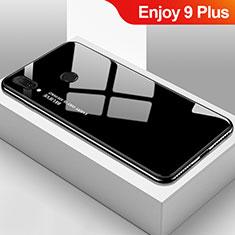 Custodia Silicone Specchio Laterale Sfumato Arcobaleno Cover per Huawei Enjoy 9 Plus Nero