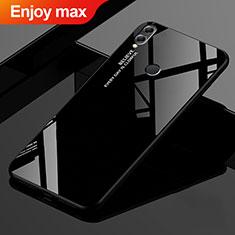 Custodia Silicone Specchio Laterale Sfumato Arcobaleno Cover per Huawei Enjoy Max Nero
