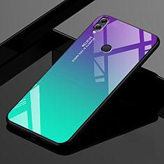 Custodia Silicone Specchio Laterale Sfumato Arcobaleno Cover per Huawei Enjoy Max Verde