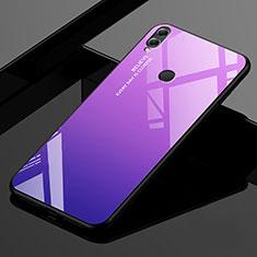 Custodia Silicone Specchio Laterale Sfumato Arcobaleno Cover per Huawei Enjoy Max Viola