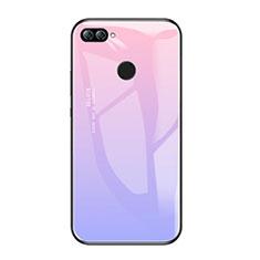 Custodia Silicone Specchio Laterale Sfumato Arcobaleno Cover per Huawei Honor 9i Viola