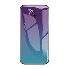 Custodia Silicone Specchio Laterale Sfumato Arcobaleno Cover per Huawei Mate 10 Multicolore