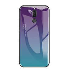 Custodia Silicone Specchio Laterale Sfumato Arcobaleno Cover per Huawei Nova 2i Multicolore