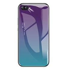 Custodia Silicone Specchio Laterale Sfumato Arcobaleno Cover per Huawei Nova 2S Multicolore