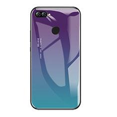 Custodia Silicone Specchio Laterale Sfumato Arcobaleno Cover per Huawei P Smart Multicolore