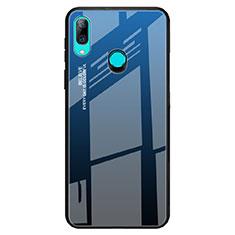 Custodia Silicone Specchio Laterale Sfumato Arcobaleno Cover per Huawei P Smart Z Blu