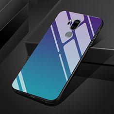 Custodia Silicone Specchio Laterale Sfumato Arcobaleno Cover per LG G7 Multicolore