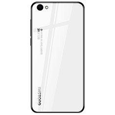 Custodia Silicone Specchio Laterale Sfumato Arcobaleno Cover per Oppo A3 Bianco