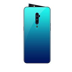 Custodia Silicone Specchio Laterale Sfumato Arcobaleno Cover per Oppo Reno 10X Zoom Cielo Blu