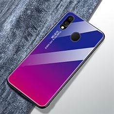 Custodia Silicone Specchio Laterale Sfumato Arcobaleno Cover per Samsung Galaxy A40 Multicolore