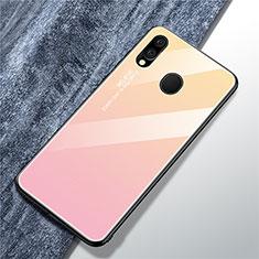 Custodia Silicone Specchio Laterale Sfumato Arcobaleno Cover per Samsung Galaxy A40 Rosa