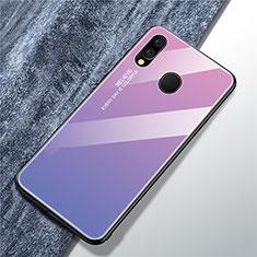 Custodia Silicone Specchio Laterale Sfumato Arcobaleno Cover per Samsung Galaxy A40 Viola