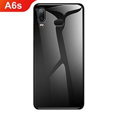Custodia Silicone Specchio Laterale Sfumato Arcobaleno Cover per Samsung Galaxy A6s Nero