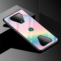 Custodia Silicone Specchio Laterale Sfumato Arcobaleno Cover per Xiaomi Black Shark 3 Pro Rosa