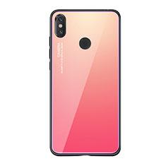 Custodia Silicone Specchio Laterale Sfumato Arcobaleno Cover per Xiaomi Mi 8 SE Rosa Caldo